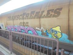 957 (en-ri) Tags: sotino limone lemon giallo rosa writer train torino graffiti writing treno merci freight transcereales