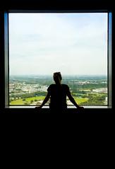 Framed (CoolMcFlash) Tags: window framed person silhouette looking munich germany woman canon eos 60d view fenster kontur münchen deutschland frau stehen aussicht fotografie photography tamron b008 18270