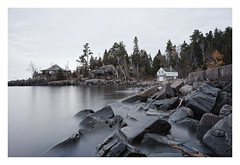 Stuctures (brnpttmn) Tags: lakesuperior minnesota sonya7 zeissloxia21mmf28 boathouse cabin ruins longexposure loxia2821 za availablelight nature