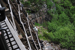 Shiver Me Timbers (Infinity & Beyond Photography: Kev Cook) Tags: white pass yukon railroad skagway alaska railway bridge tracks mountain gorge timbers rocks bushes