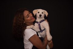 Mum and baby (Rushay) Tags: african animal background beautiful cute cuteness dog labrador pet portelizabeth portrait puppy southafrica watching woman