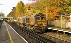66724 Meopham (localet63) Tags: gbrailfreight class66 66724 meopham 6n33 ballastwagons kent
