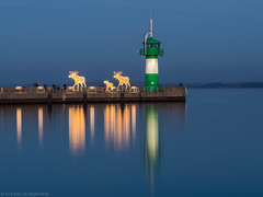 Friendly visitors from up North (katrin glaesmann) Tags: travemünde lübecktravemünde nordermole pier lighthouse longexposure trelche sculpture art balticsea ostsee schleswigholstein bayoflübeck lübeckerbucht sleswickholsatia derechtenorden therealnorth reflection