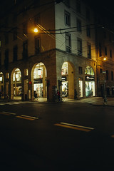 All'angolo (matteoguidetti) Tags: night city urban urbanphotography citylife bike parma città street streetphotography colors lights architecture architettura parma2020 italy palazzi centrocittà