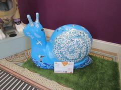 Mr Shell Blob (one of the Junior Snails) (wallygrom) Tags: england sussex eastsussex brighton snailtrail sculpturetrail snailspace bemoresnail sculptures