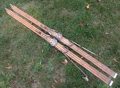 skis (fotosonic73) Tags: skis rossignol bois ancien