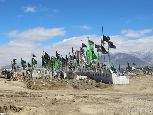 Cemetary for Hazaras, Quetta, Balochistan, Pakistan.