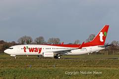 B737-8KN HL8327 ex A6-FDK T'WAY (shanairpic) Tags: jetairliner passengerjet b737 boeing737 shannon iac eirtech tway hl8327 a6fdk