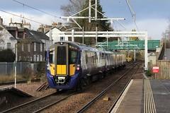 385107 5P44 12:52 Dunblane to Dunblane; Dunblane; 09-12-2018 (graeme8665) Tags: abellioscotrail scotrail emu hitachiat200 dunblane