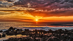 December Sunset 6 (Jörg Bergmann) Tags: 2018 crepúsculo elhierro islascanarias lumixg20f17 lagomera panasonic20mmf17 panasonicdmcgm1 pancake sonnenuntergang vallegranrey atardecer backlight canarias canaryislands coast december españa gm1 goldenhour gomera hiver invierno lumix lumix20mm m43 mft micro43 microfourthirds ocean panasonic puestadesol rocks sea seascape spain sun sunburst sundown sunset travel vacation water winter μ43 sky orange