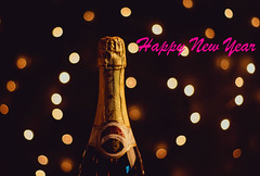 Happy New Year with champagne bottle (wuestenigel) Tags: champagne newyear text party celebration holiday 2019 happy light champagner feier christmas weihnachten sparkling funkelnd noperson keineperson illuminated beleuchtet nightlife nachtleben wine wein shining leuchtenden alcohol alkohol horizontal bright hell dark dunkel glass glas outdoors drausen drink getränk luxury luxus romance romantik anniversary jahrestag