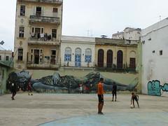 street art and kids (Jackal1) Tags: streetart kids havana football soccer city cuba building