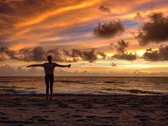 new year (marissa_bova) Tags: yoga beach new beginning florida south sunrise ocean sky colors clouds pastel water sea friends sand