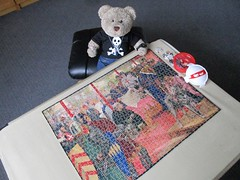 Sine on the dotted line! (pefkosmad) Tags: jigsaw puzzle hobby leisure pastime wood wooden plywood vintage art painting magnacarta kingjohn cavalcade wemack cutbybritishexservicemen used secondhand incomplete missingpieces ebay tedricstudmuffin teddy bear ted animal toy cute cuddly plush fluffy soft stuffed greatcharter