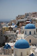 Fira / Фира (Санторини) (mitko_denev) Tags: greece aegean islands гърция острови santorini fira thera blue dome church санторини църва купол