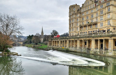 The River Avon at Bath, Somerset (Baz Richardson) Tags: somerset bath riveravon grandparadebath weirs