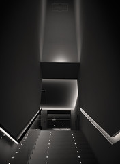 Escalera/ Stair (Jose Antonio. 62) Tags: spain españa asturias oviedo museum museo architecture arquitectura escaleras stairs bw blancoynegro blackandwhite