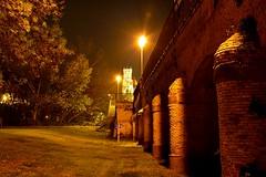 BAJO EL PUENTE (alfredo2057) Tags: alfredo arbol arga atalaya santa farola iglesia noche nikon luz largaexposicion navarra nocturna pueblo peralta otoño color cielo rio puente