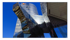 Naturgy Building (Greenstone Girl) Tags: gas building cantilevered architecture barcelona naturgy energy company glass tower skyscraper