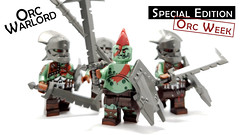 Orc Warlord (BrickWarriors - Ryan) Tags: brickwarriors custom lego minifigure weapons helmets armor orc warlord printed sword greatsword shield fantasy castle medieval