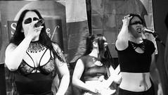 Event Horizon March 2019 031 (byronv2) Tags: music musician woman women makeup stage band krow krowandtheelectrictemple goth gothic punk electro blackandwhite blackwhite bw monochrome dance shorelineofinfinity eventhorizon edinburgh edimbourg scotland frankensteins georgeivbridge