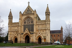 St Albans Cathedral (Owl Prints) Tags: stalbanscathedral stalbans cathedrals architecture brickwork normanarchitecture trees