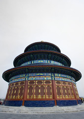 Temple Of Heaven, Beijing, China (Eric Lafforgue) Tags: mg0092 ancientcivilization architecture asia beijing buildingexterior china chineseculture city clearsky cloud colorpicture copyspace day digitalenhancement dome famousplace groupofpeople heaven history horizontal internationallandmark lowangleview monument nationallandmark nopeople ornate outdoor pagoda pekin placeofinterest placeofworship realpeople roof spirituality temple templeofheaven tourism traditionallychinese travel traveldestinations vertical