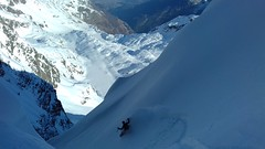 Becca nera of Paramont - North-East Couloir (breedingfra) Tags: mountain freeride snowboarding powder winter