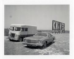 Winslow, AZ (moominsean) Tags: polaroid 190 instant arizona winslow desert knives hopi tourist car autos abandoned route66 fuji fp100b