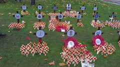 To Mark 100 Years 1918-2018 Of The End Of The First World War Armistice Remembrance Day At The Cenotaph In George Square Glasgow Scotland 2018 - 9 Of 27 (Kelvin64) Tags: to mark 100 years 19182018 of the end first world war armistice remembrance day at cenotaph in george square glasgow scotland 2018