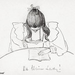 Girl sitting at a table with her head bent over an open book (1894) by JJulie de Graag (1877-1924). Original from the Rijks Museum. Digitally enhanced by rawpixel. thumbnail