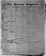 1885 - First front page - Enquirer - 21 Nov 1885