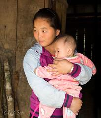 Young Mother & Child (cheryl strahl) Tags: vietnam northernvietnam mountains sapa machavillage village ethnic blackhmong reddao
