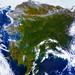 Rare clear view of Alaska. Original from NASA. Digitally enhanced by rawpixel.
