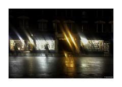 Rain in Charing Cross Road © (wpnewington) Tags: shopwindows londonatnight secondhandbookshops charingcrossroad rain london night shops books