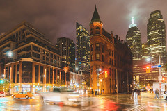 A Rainy Night... (A Great Capture) Tags: gooderhambuilding building flatiron toronto agreatcapture agc wwwagreatcapturecom adjm ash2276 ashleylduffus ald mobilejay jamesmitchell on ontario canada canadian photographer northamerica torontoexplore fall autumn automne herbst autunno otoño 2018 city downtown lights urban night dark nighttime canon eos 6d mark ii 2470mm cityscape urbanscape digital dslr lens skyline towers tower buildings structure outdoor outdoors outside streetphotography streetscape photography streetphoto street calle darkness nocturnal illuminate lighting clouds cloudy overcast rain rainyday rainy