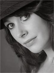 Sammy-40 (AndyG01) Tags: blackandwhite mono monochrome pretty girl studio photoshoot trilby hat