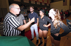 IMG_3163 (SJH Foto) Tags: girls high school volleyball bishop shanahan hempfield state pool play championships canon 1018 f4556 stm superwide lens pregame ceremonies ref referee captains coin toss coaches