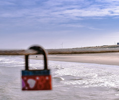 Fate (The Reveries) Tags: romantic lock love beach couple fate lovestory travel dock pier water waves sea