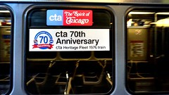 70th Anniversary of the CTA (Laurence's Pictures) Tags: train chicago transit authority cta loop purple line linden spirit 1976 heritage fleet boeing boeingvertol ridley park pennsylvania 2400 series cars rapid passenger l el mass