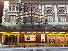 Gettin' The Band Back Together (Joe Shlabotnik) Tags: broadway belasco newyorkcity cameraphone nyc marquee manhattan sign theater galaxys9 august2018 2018