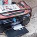 Ein mobiler Drucker für Touristenfotos in Rom