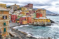 Boccadasse , after the storm ... (miriam ulivi) Tags: miriamulivi panasonicdmctz60 italia liguria genovaboccadasse mare sea case houses colori colours