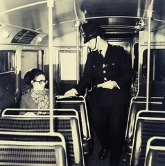 Police officer on an London transport RT in Rotherhithe circa 1967. (Ledlon89) Tags: rtbus rt london bus buses transport lt lte businterior lowerdeck londonbus londonbuses rotherhithe police met oldbus oldlondon 1967 1960s