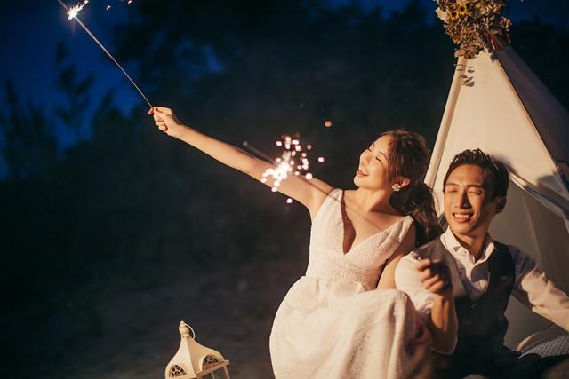 清新美式風格|沙灘、海邊、營火讓快門捨不得停下來的婚紗寫真