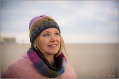 Happy Anniversary Linda (scottnj) Tags: 365the2018edition 3652018 day364365 30dec18 linda beach anniversary knit knitwear sand ocean portrait scottnj scottodonnellphotography