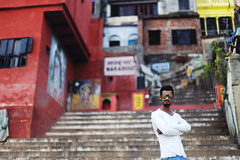 Arnold~! (SidhArcheR) Tags: varanasi 6d ghat portrait coolers colorsofindia yamuna ganga steps sidharcher siddharthanraman 50mmf14