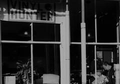 Vinyl Hunter (Bury Gardener) Tags: burystedmunds bw blackandwhite britain suffolk street streetphotography snaps streetcandids strangers candid candids people peoplewatching folks 2018 stjohnsstreet