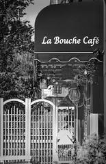 A little taste of France in Hoboken (larussomano) Tags: blackandwhite street monochrome city bw outside cafes outdoors