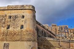 Senglea (Douguerreotype) Tags: castle fort historic wall buildings stone city malta architecture valletta